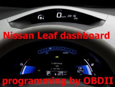 S7.65  Instrument cluster programming for suitable Nissan Leaf by OBDII