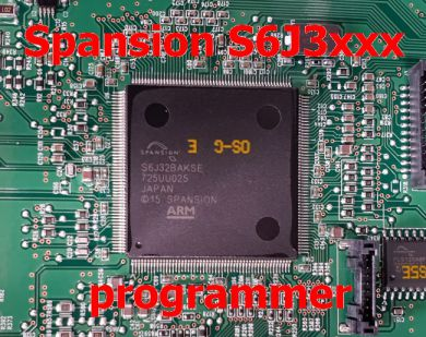 S2.9 - Spansion ARM S6J3 ( S6J3001LSJ, S6J3003KSE, S6J32BAKSE ) programmer with A10 adapter