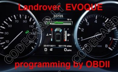 S7.35 - Dashboard repair by OBDII for Range Rover Evoque, Sport, Jaguar XE, F-Pace 2016+