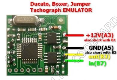 TACHOEMU - Fiat, Peugeot, Citroen tachograph skip emulator