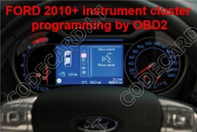 S7.27 - Dashboard repair by OBDII for FORD 2010+