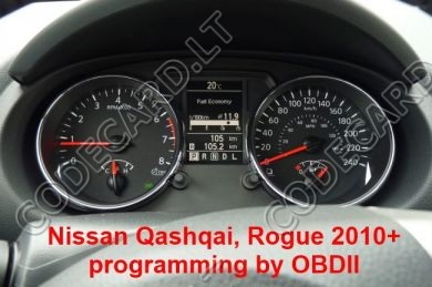 S7.29 - Dashboard repair by OBDII for Nissand Qashqai, Rogue 2010+