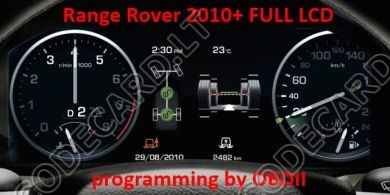 S7.32 - Full LCD dashboard repair by OBDII for RangeRover Sport 2010+