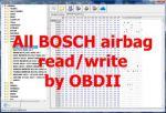 S5.52 - CarProg software for Ford, Mazda, Land Rover, Jaguar SRS Airbag sensors (made by Bosch) programming by OBD2 or CAN